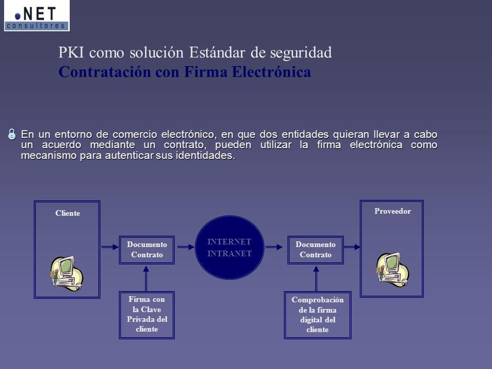 En un entorno de comercio electrónico, en que dos entidades quieran llevar a cabo un acuerdo mediante un contrato, pueden utilizar la firma electrónic