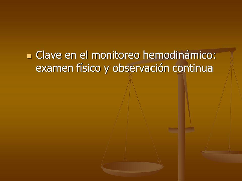 Clave en el monitoreo hemodinámico: examen físico y observación continua Clave en el monitoreo hemodinámico: examen físico y observación continua