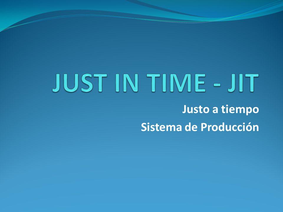 INTRODUCCIÓN Las siglas J.I.T.
