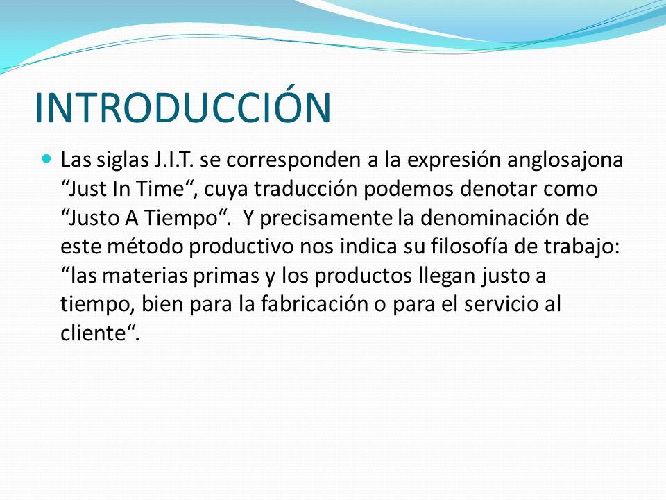 INICIO DEL JUST IN TIME (JIT) El just in time es un método de dirección industrial japonés desarrollado en 1970s.