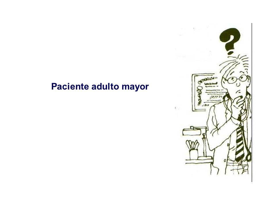 CRITERIOS ADULTO MAYOR FRÁGIL Cumple una de las siguientes condiciones: > 80años edad.