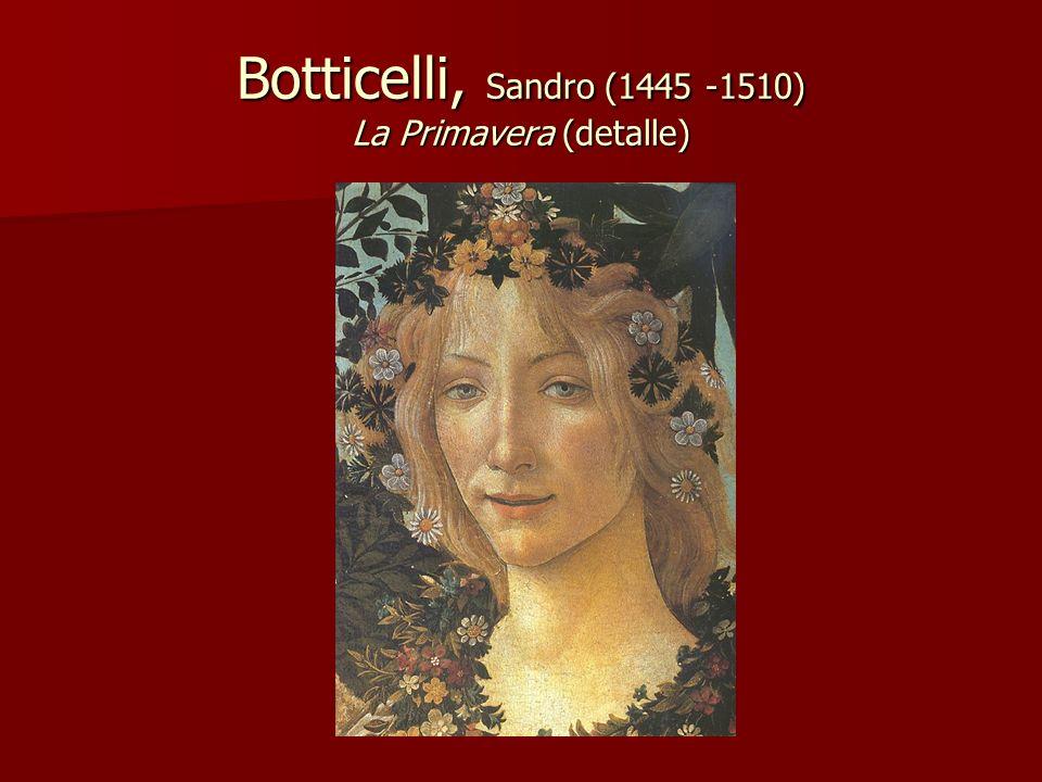 Botticelli, Sandro (1445 -1510) La Primavera (detalle)