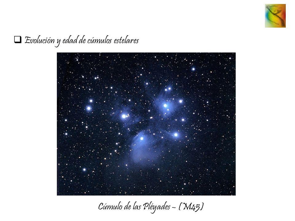 Evolución y edad de cúmulos estelares Cúmulo de las Pléyades – (M45)