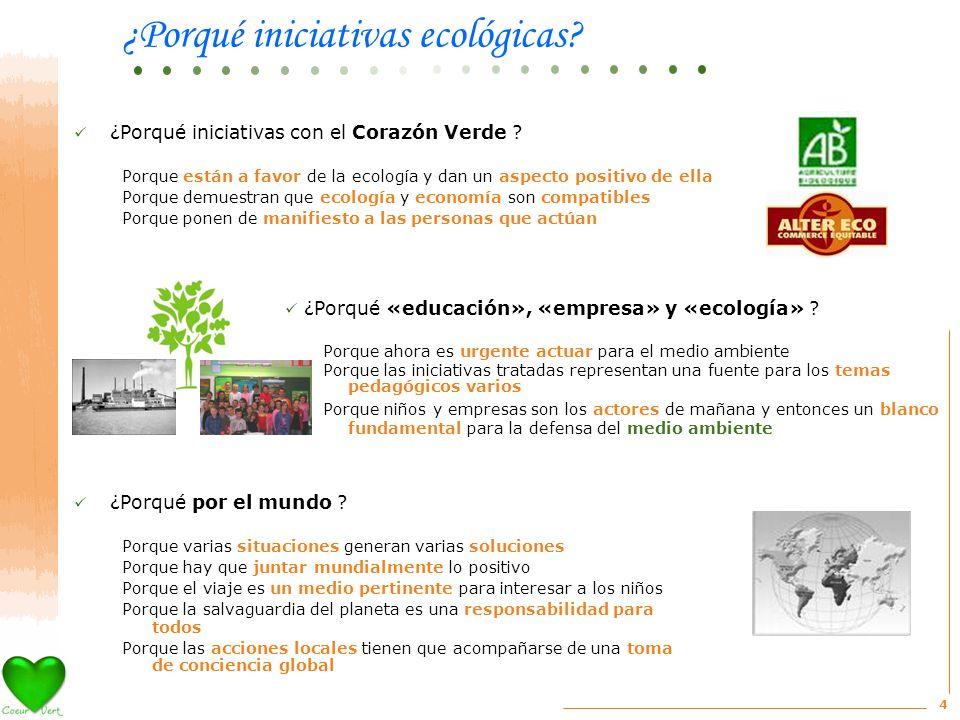 4 ¿Porqué iniciativas con el Corazón Verde .