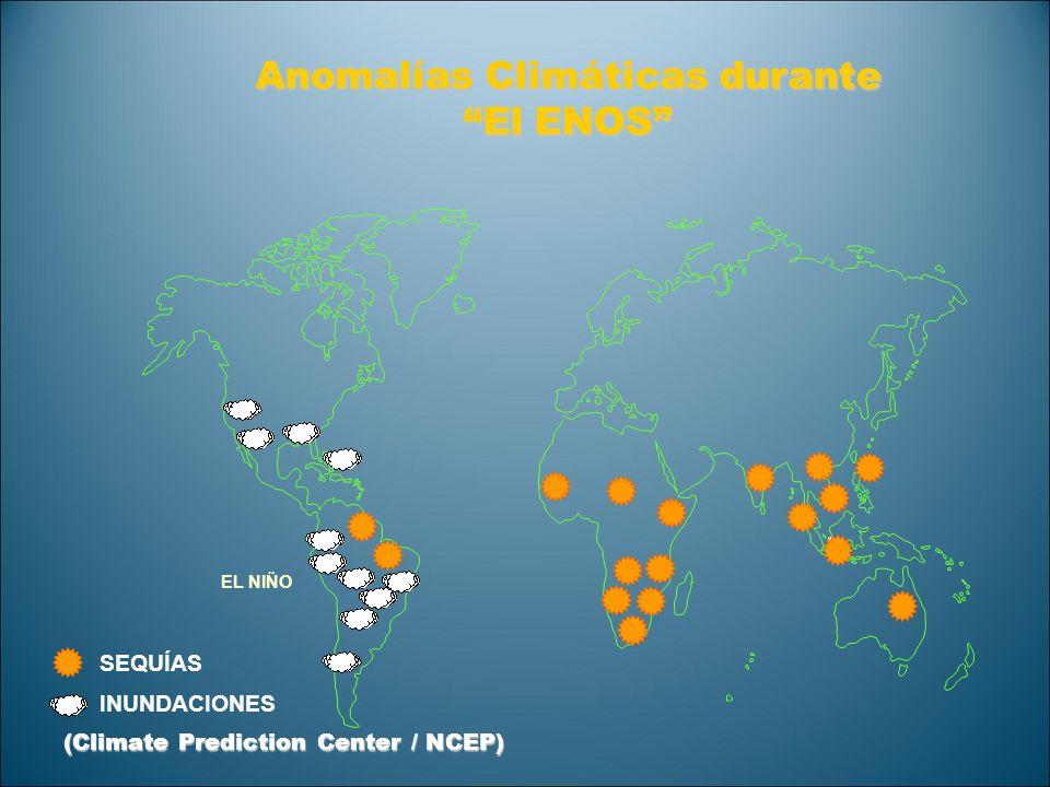 Anomalías Climáticas durante El ENOS SEQUÍAS INUNDACIONES EL NIÑO (Climate Prediction Center / NCEP)