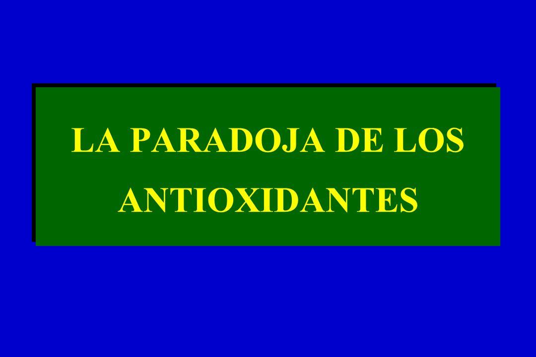 LA PARADOJA DE LOS ANTIOXIDANTES