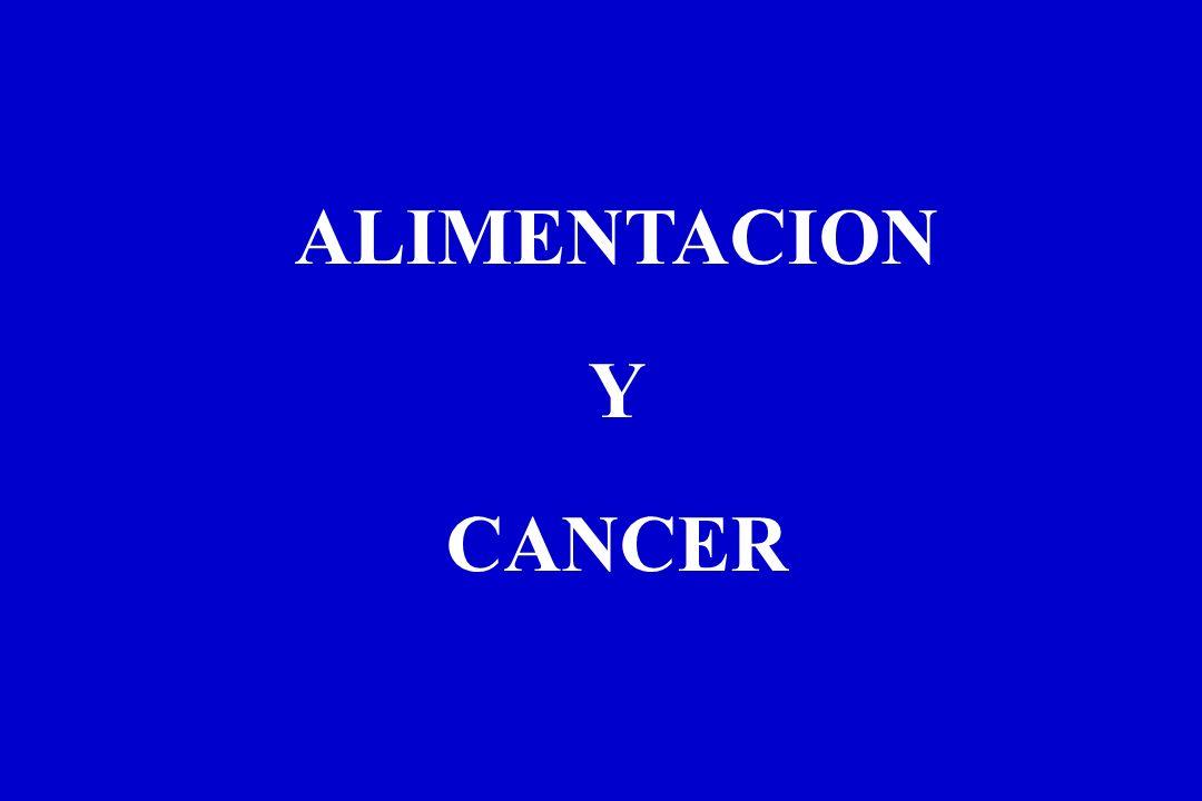 ALIMENTACION Y CANCER