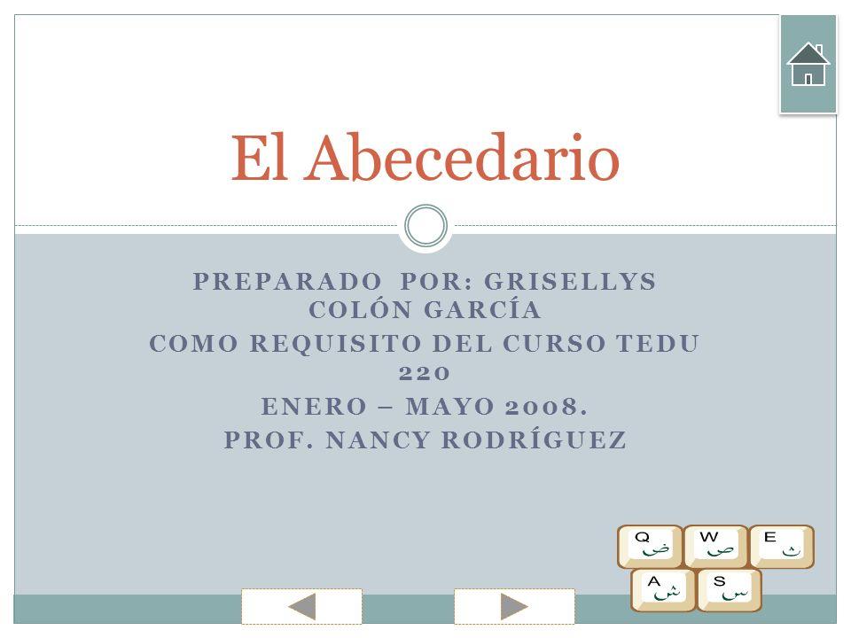 PREPARADO POR: GRISELLYS COLÓN GARCÍA COMO REQUISITO DEL CURSO TEDU 220 ENERO – MAYO 2008.