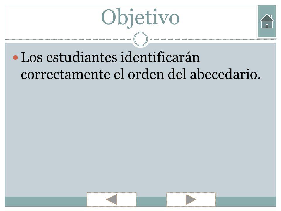 Ejercicios 2) ¿ Cuál es la primera letra del abecedario.