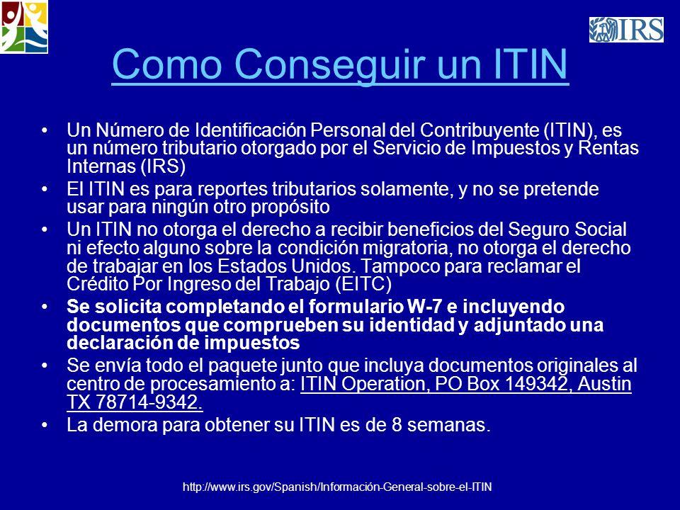 Como Conseguir un ITIN Un Número de Identificación Personal del Contribuyente (ITIN), es un número tributario otorgado por el Servicio de Impuestos y
