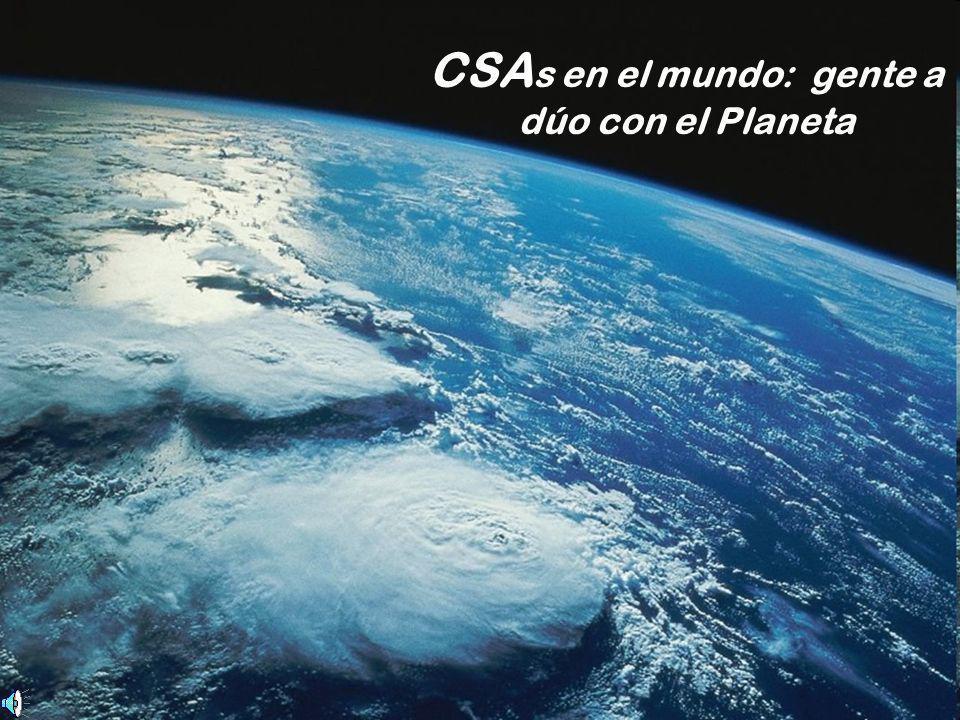 CSA s en el mundo: gente a dúo con el Planeta