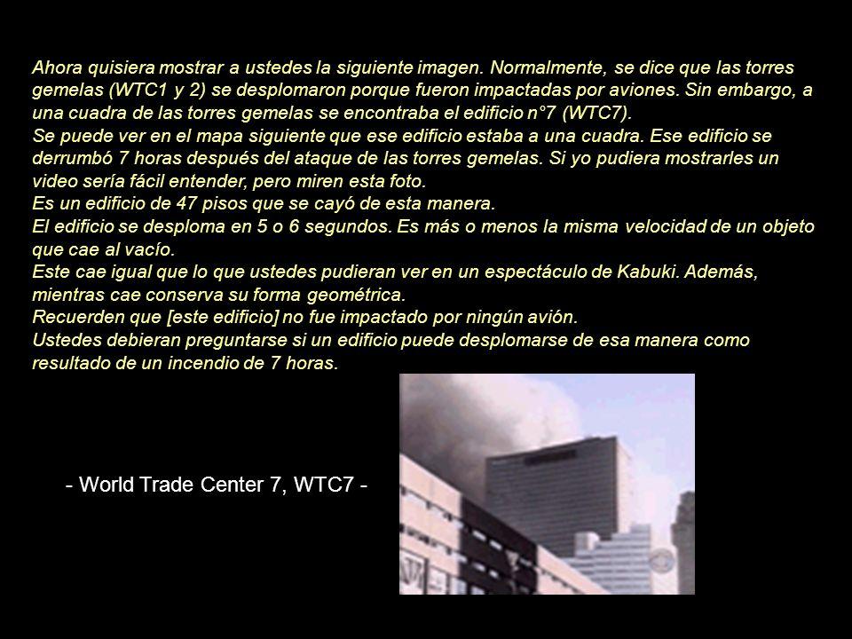 Muestra a qué distancia fueron proyectados los objetos. La tercera foto es de un bombero que participó en los auxilios. Habla de una serie de explosio