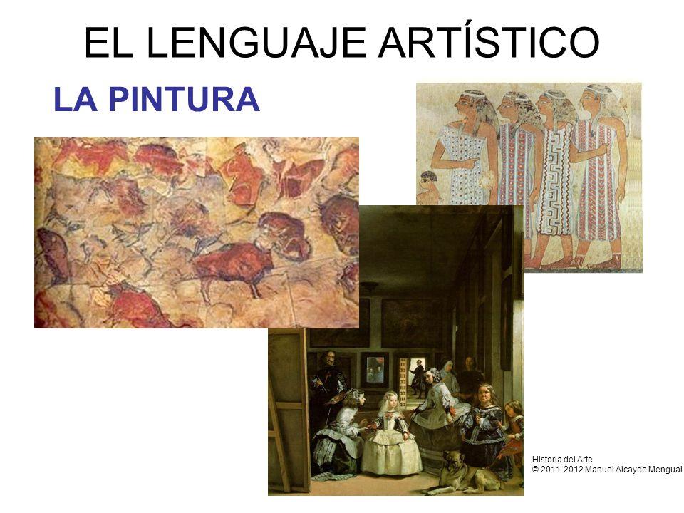 EL LENGUAJE ARTÍSTICO LA PINTURA Historia del Arte © 2011-2012 Manuel Alcayde Mengual