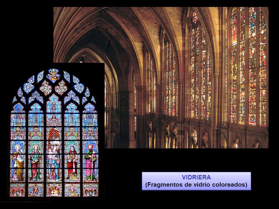 VIDRIERA (Fragmentos de vidrio coloreados) VIDRIERA (Fragmentos de vidrio coloreados)
