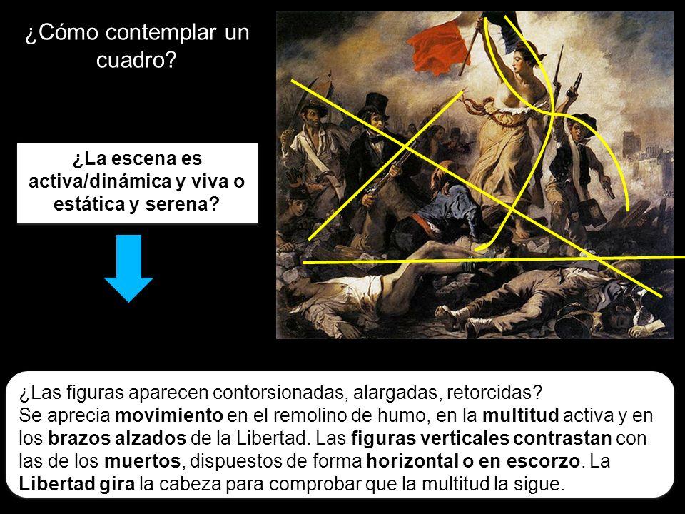 ¿Cómo contemplar un cuadro? ¿La escena es activa/dinámica y viva o estática y serena? ¿Las figuras aparecen contorsionadas, alargadas, retorcidas? Se