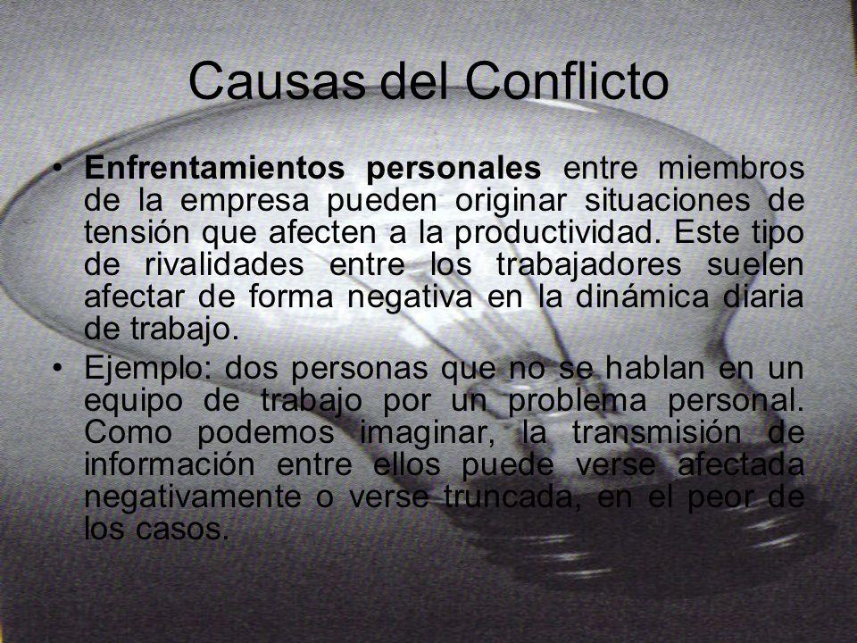 PREVENCIÓN DE CONFLICTOS La mejor manera de solucionar un conflicto es abordarlo antes de que éste tenga lugar.