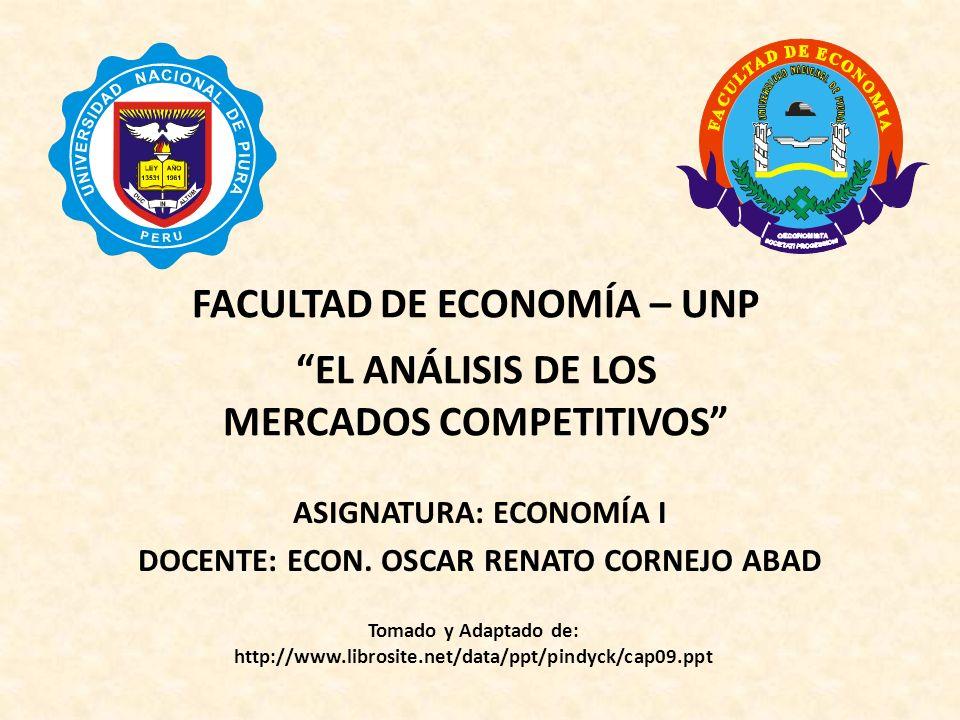 Capítulo 9: El análisis de los mercados competitivos Oferta: Q S = 14 + 2P G + 0,25P O Cantidad ofrecida en billones de pies cúbicos (bpc).
