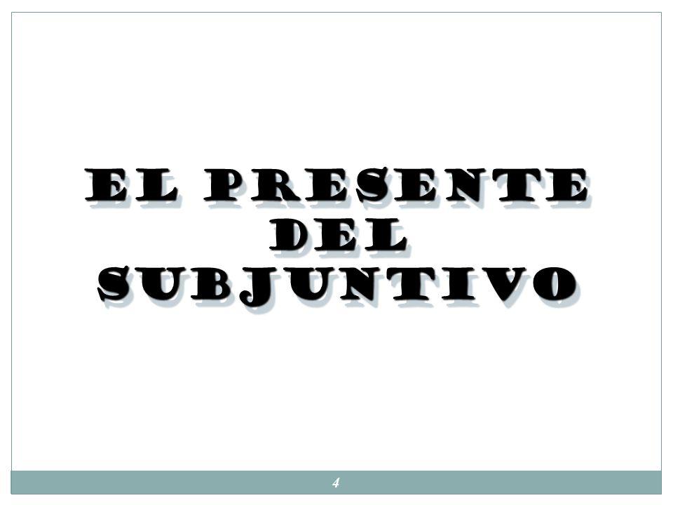 14 Subjuntivo vs Indicativo: 1.