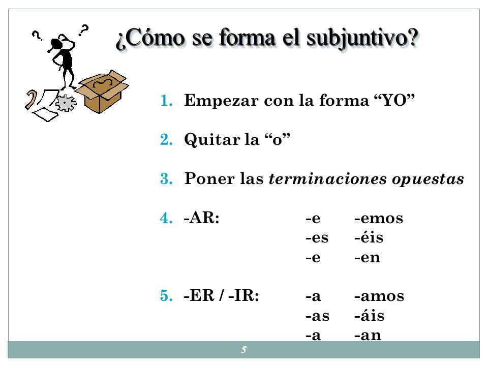 15 Subjuntivo vs Indicativo: 1.