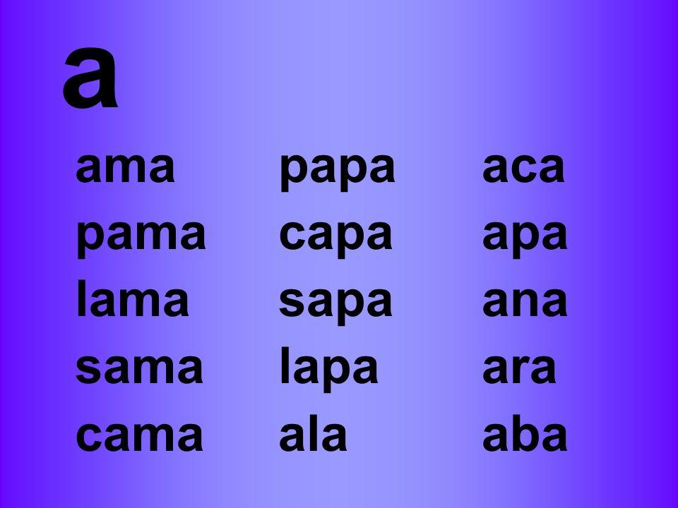 a amapapaaca pamacapaapa lamasapaana samalapaara camaalaaba