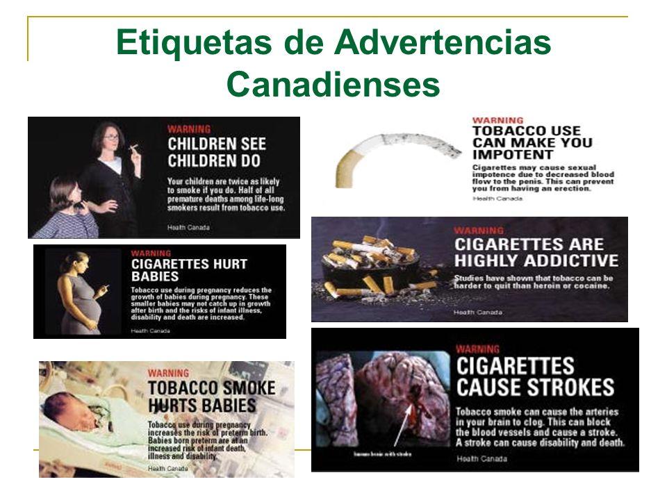 Etiquetas de Advertencias Canadienses