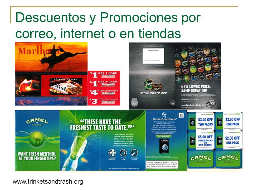 Descuentos y Promociones por correo, internet o en tiendas www.trinketsandtrash.org