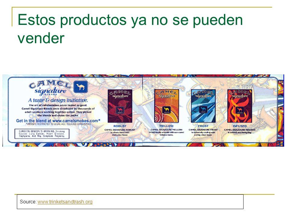 Estos productos ya no se pueden vender Source: www.trinketsandtrash.orgwww.trinketsandtrash.org