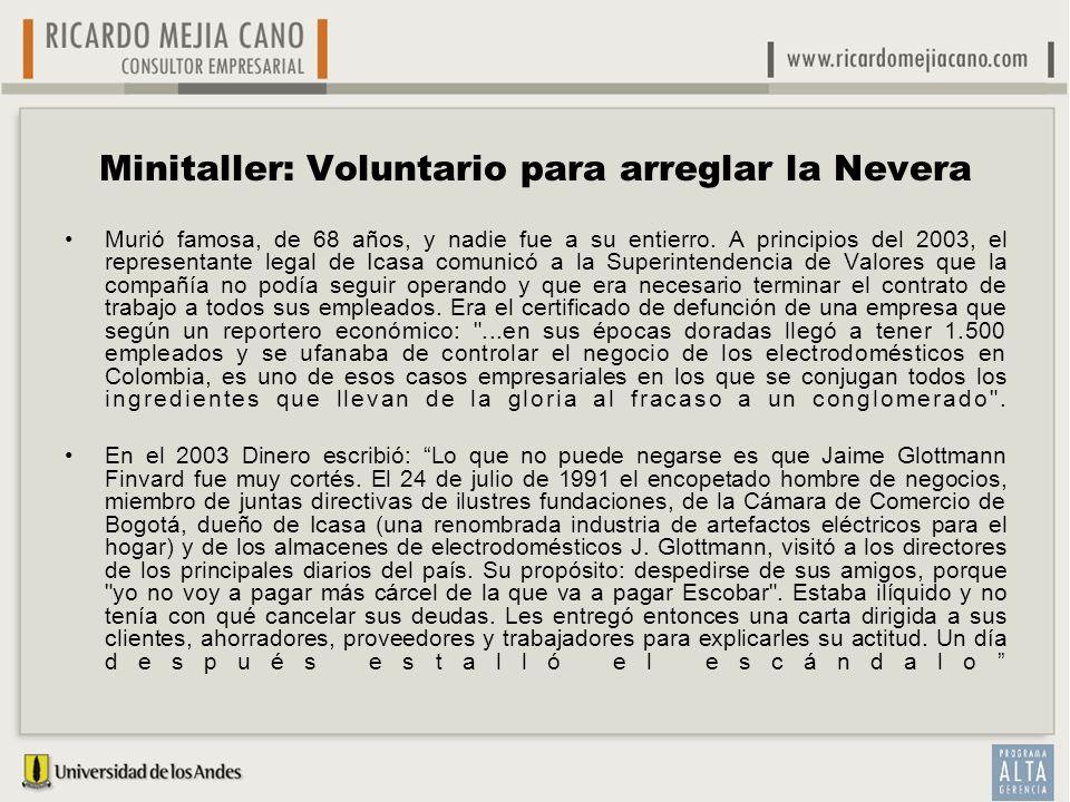 Minitaller: Voluntario para arreglar la Nevera Murió famosa, de 68 años, y nadie fue a su entierro. A principios del 2003, el representante legal de I