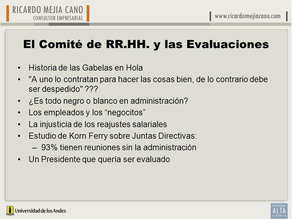 El Comité de RR.HH. y las Evaluaciones Historia de las Gabelas en Hola