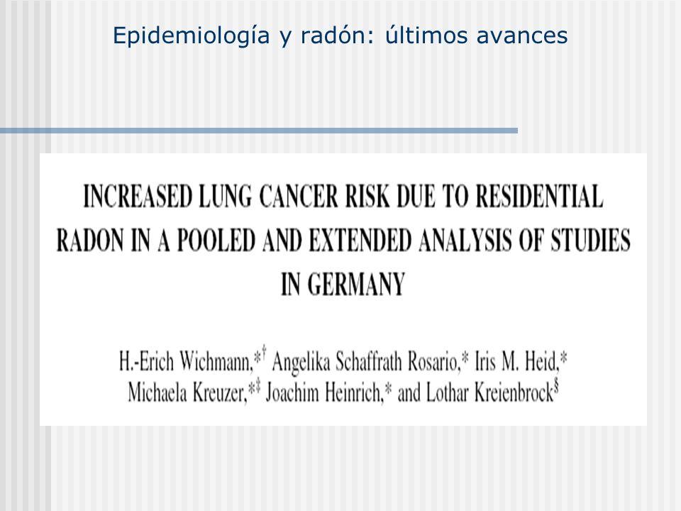 Epidemiología y radón: últimos avances