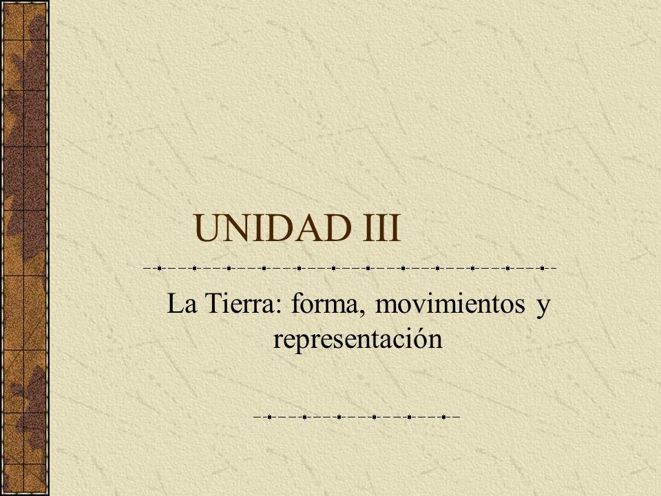 UNIDAD III La Tierra: forma, movimientos y representación
