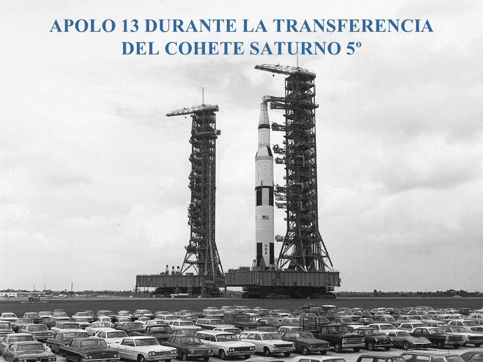 APOLO 13 DURANTE LA TRANSFERENCIA DEL COHETE SATURNO 5º