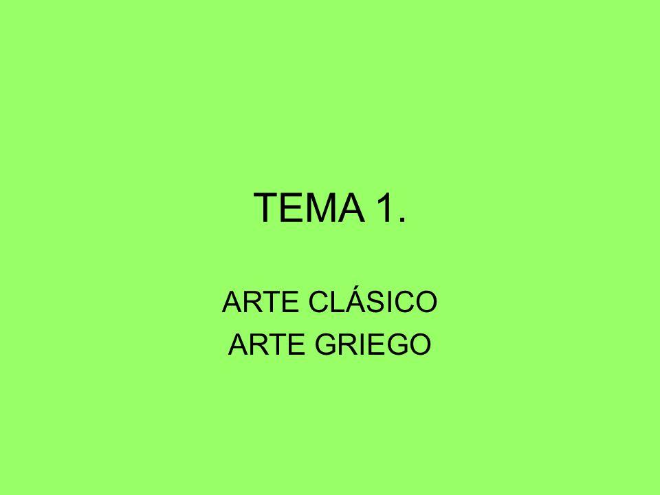 El arte griego abarca un ámbito geográfico muy extenso: la península Balcánica y el mar Egeo, que constituyen el núcleo originario, los territorios colonizados por los griegos en el Mediterráneo y los territorios incorporados tras las conquistas de Alejandro Magno.