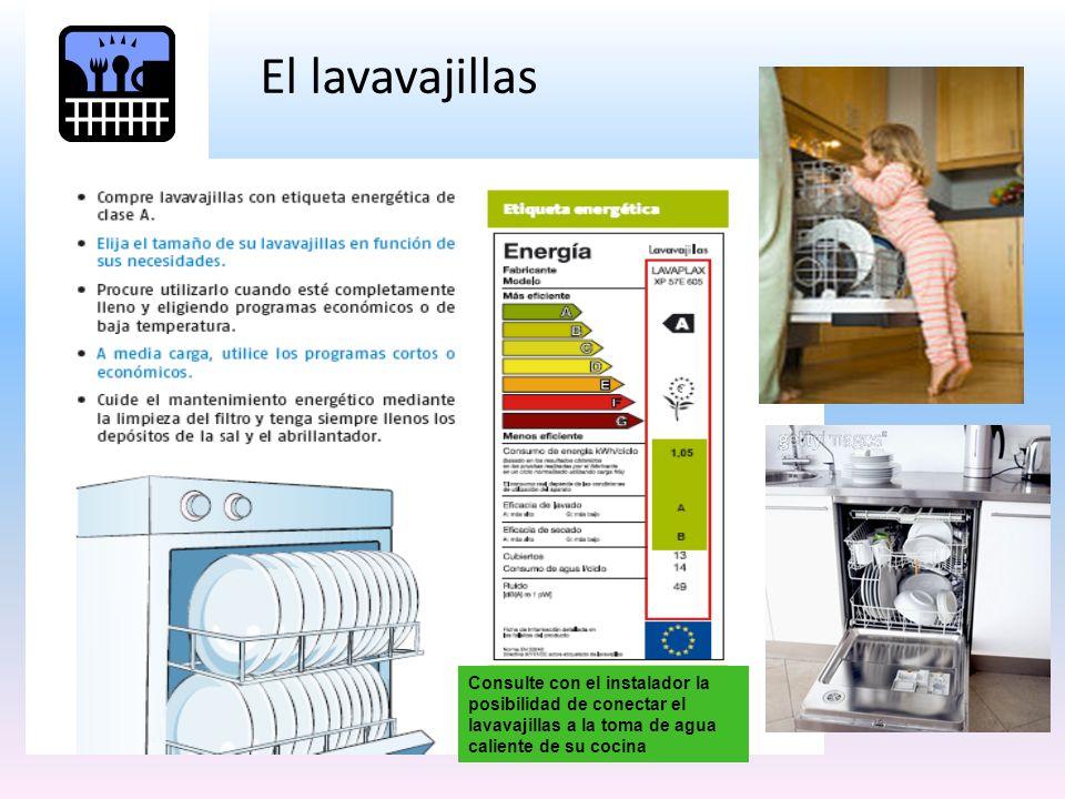 El lavavajillas Consulte con el instalador la posibilidad de conectar el lavavajillas a la toma de agua caliente de su cocina