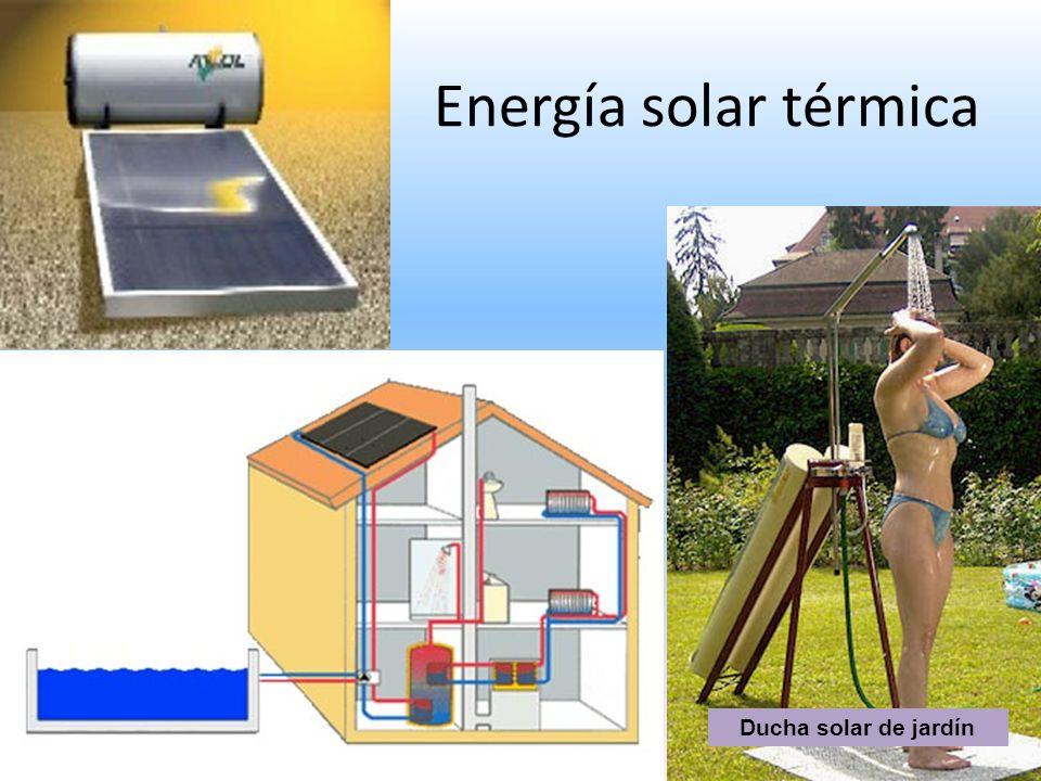Energía solar térmica Ducha solar de jardín