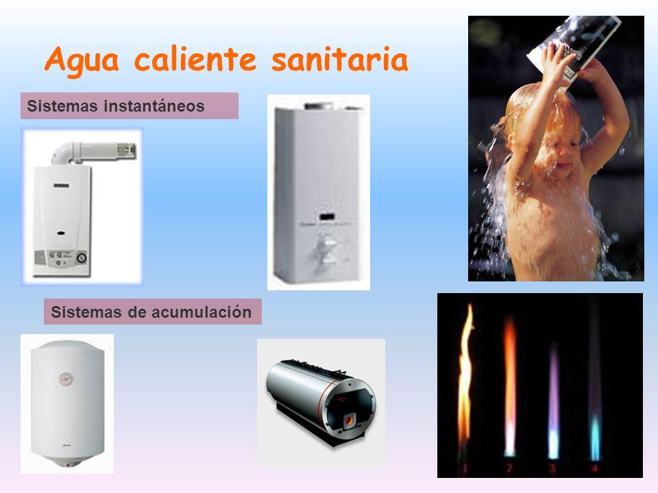 Agua caliente sanitaria Sistemas instantáneos Sistemas de acumulación