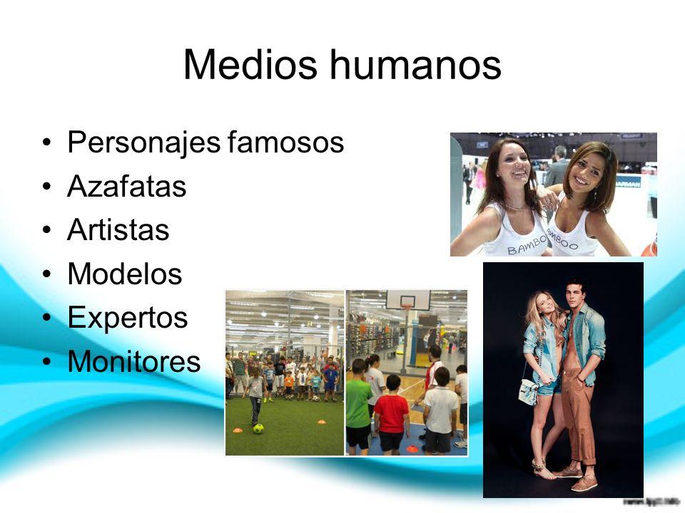 Medios humanos Personajes famosos Azafatas Artistas Modelos Expertos Monitores