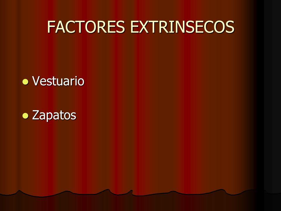 FACTORES EXTRINSECOS Vestuario Vestuario Zapatos Zapatos