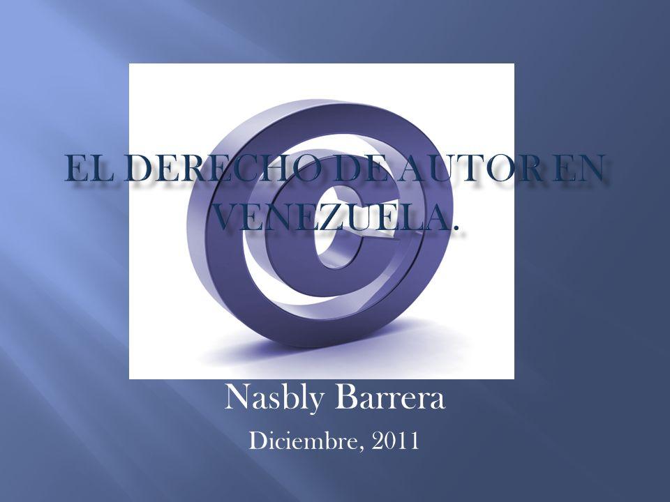 Nasbly Barrera Diciembre, 2011