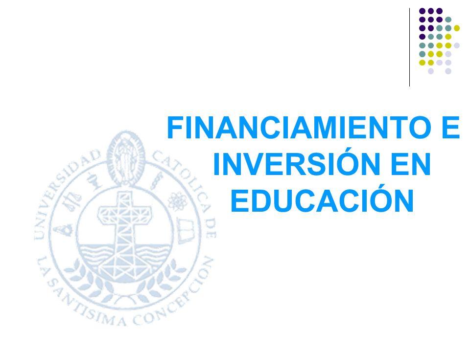 FINANCIAMIENTO E INVERSIÓN EN EDUCACIÓN