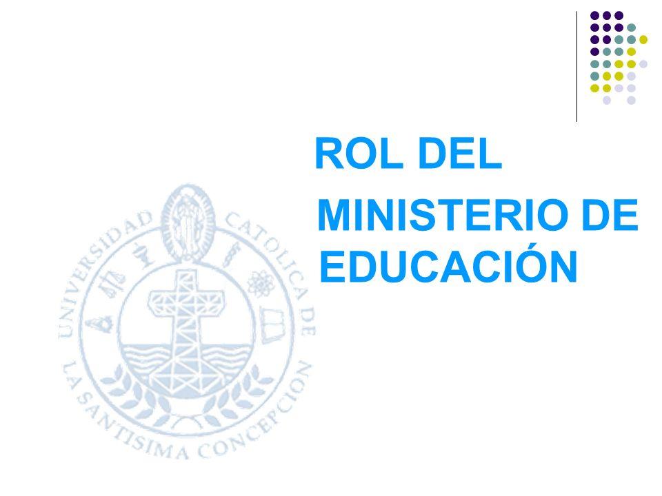 ROL DEL MINISTERIO DE EDUCACIÓN
