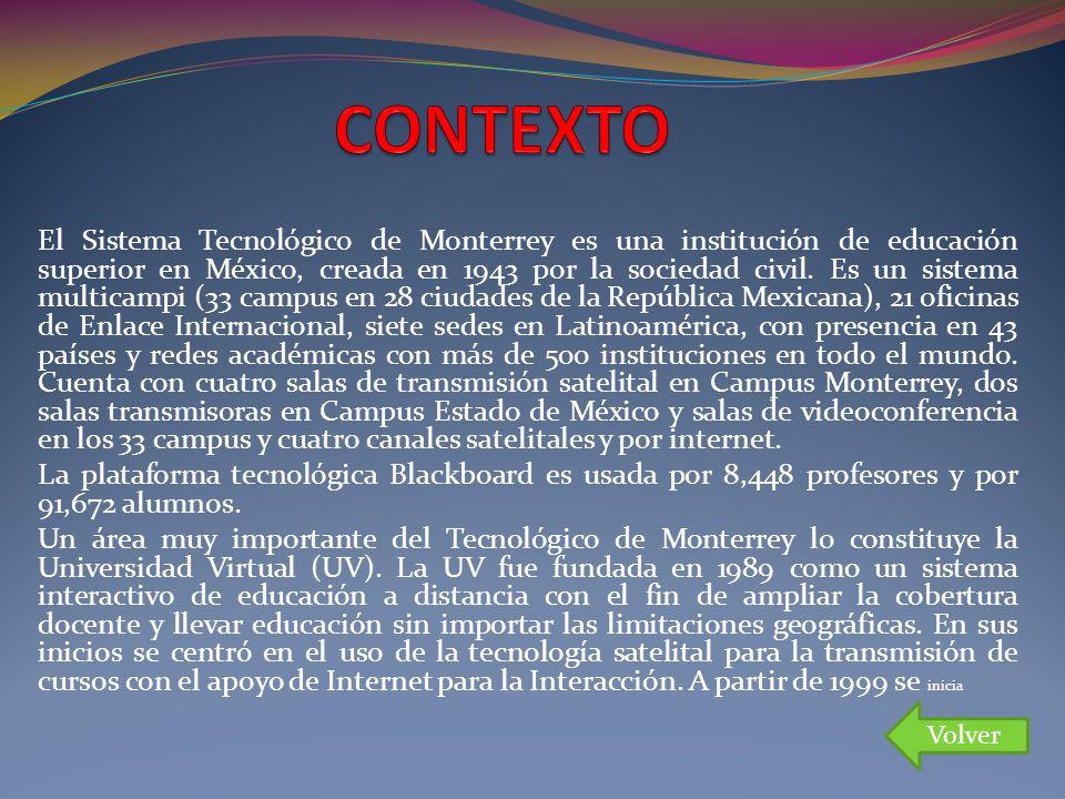 El Sistema Tecnológico de Monterrey es una institución de educación superior en México, creada en 1943 por la sociedad civil. Es un sistema multicampi