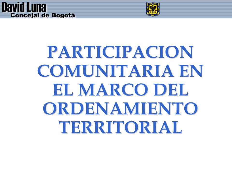 PARTICIPACION COMUNITARIA EN EL MARCO DEL ORDENAMIENTO TERRITORIAL