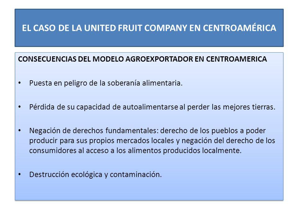 EL CASO DE LA UNITED FRUIT COMPANY EN CENTROAMÉRICA