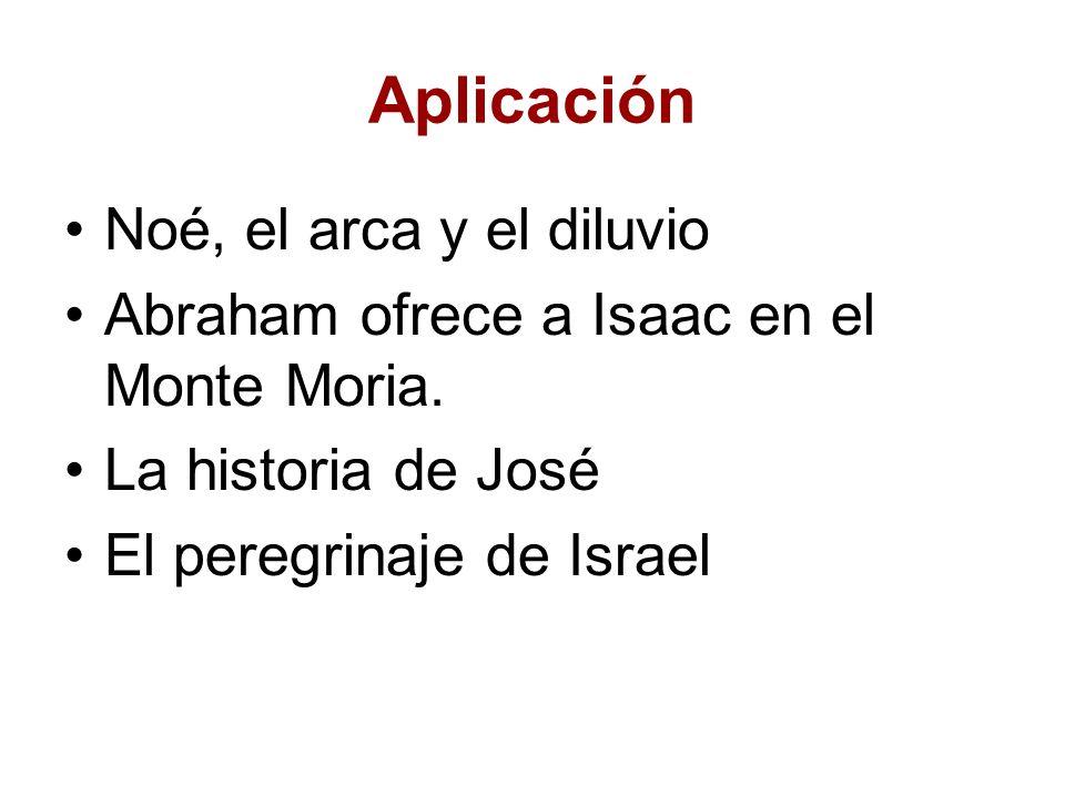 Aplicación Noé, el arca y el diluvio Abraham ofrece a Isaac en el Monte Moria. La historia de José El peregrinaje de Israel