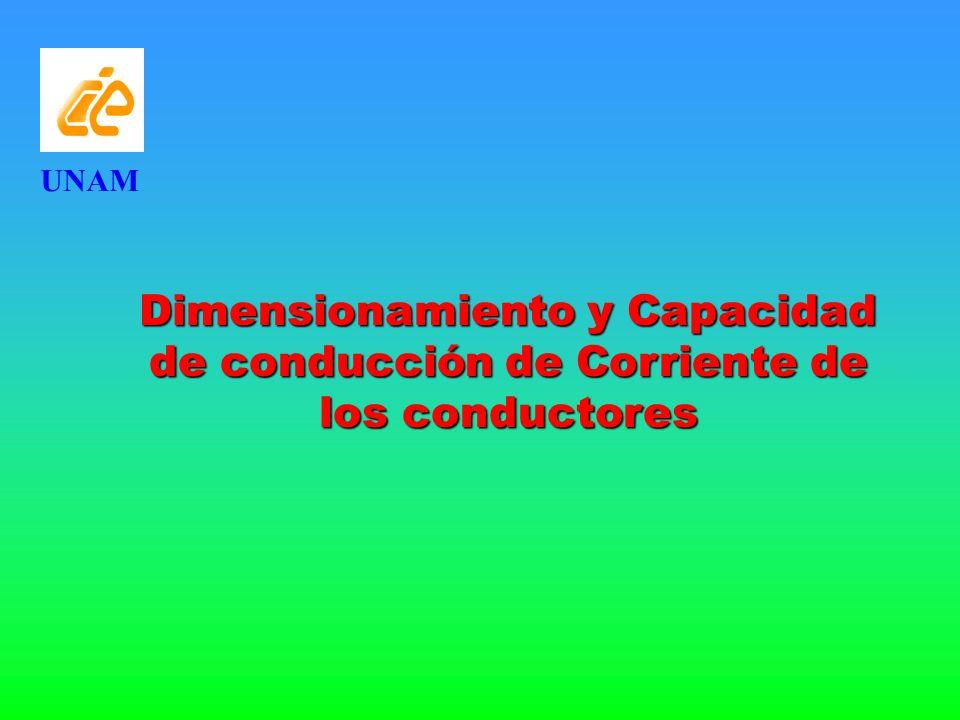 UNAM Dimensionamiento y Capacidad de conducción de Corriente de los conductores
