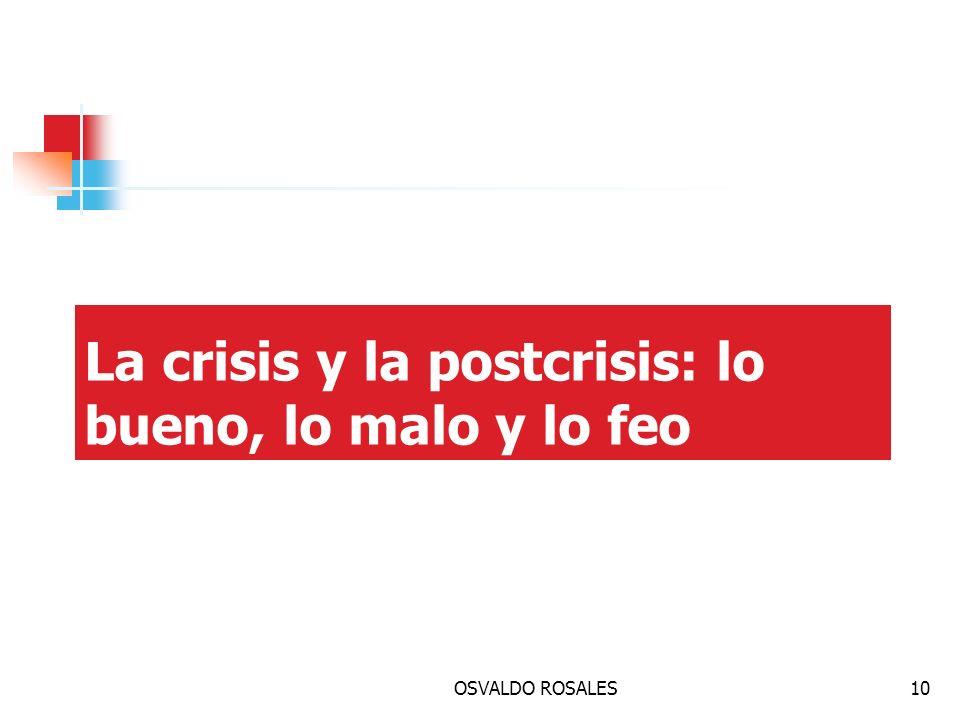OSVALDO ROSALES10 La crisis y la postcrisis: lo bueno, lo malo y lo feo