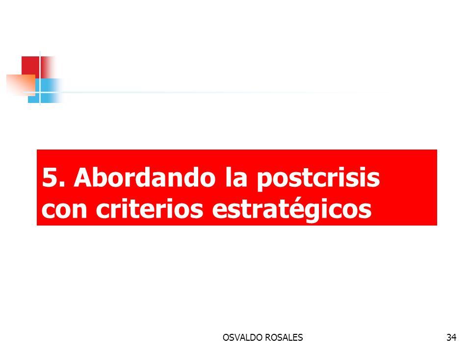 OSVALDO ROSALES34 5. Abordando la postcrisis con criterios estratégicos