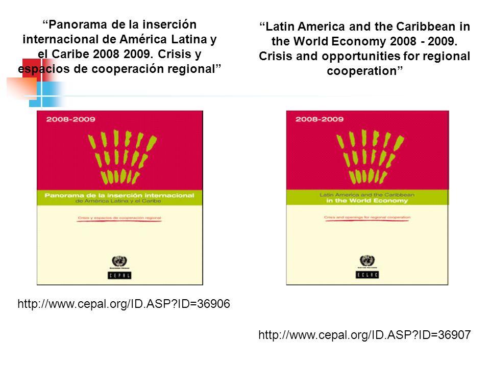 http://www.cepal.org/ID.ASP?ID=36906 http://www.cepal.org/ID.ASP?ID=36907 Panorama de la inserción internacional de América Latina y el Caribe 2008 20