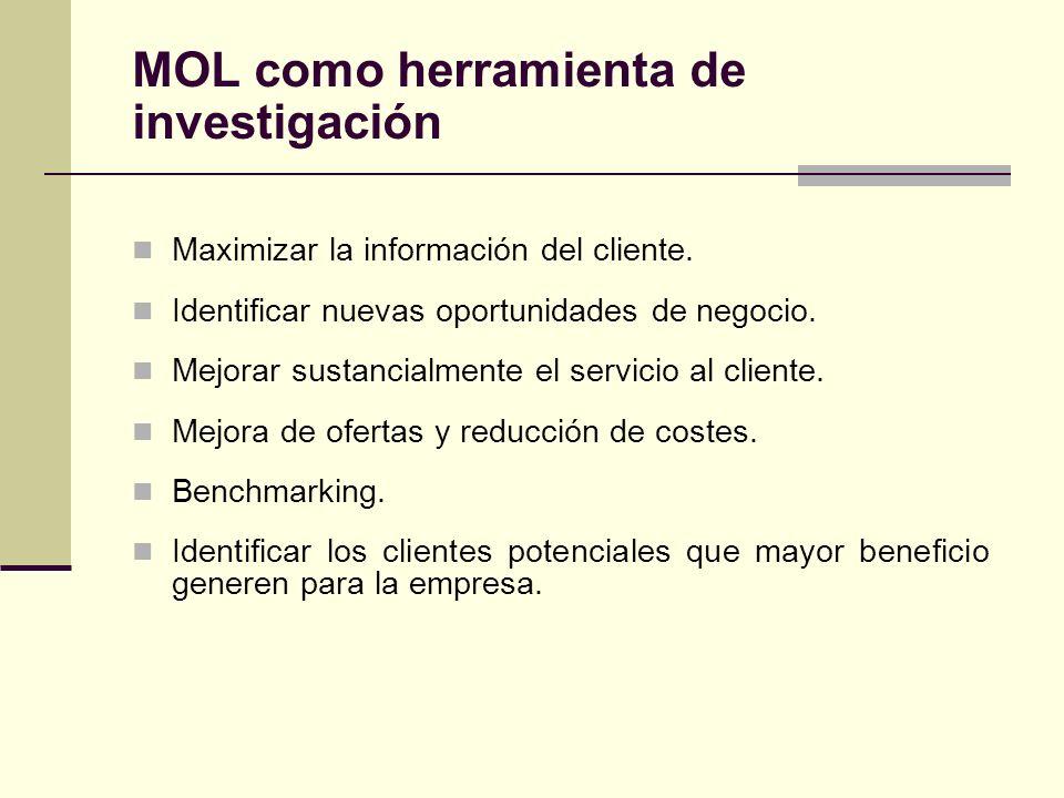Maximizar la información del cliente. Identificar nuevas oportunidades de negocio. Mejorar sustancialmente el servicio al cliente. Mejora de ofertas y